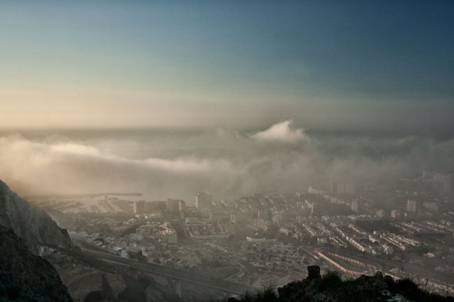 Aguadulce nublado desde la montaña