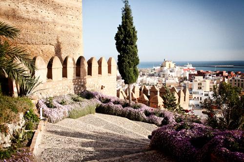 escalera de bajada de la Alcazaba