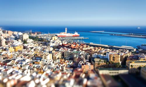 Puerto de Almería con efecto