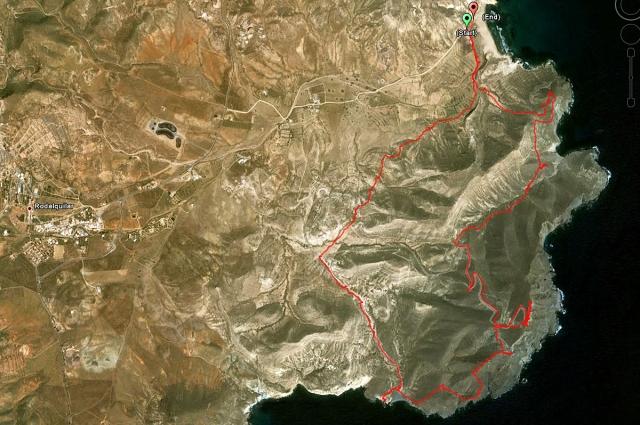 Ruta de trekking Playazo-La Polacra-Cala Carneje-Playazo