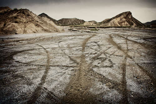 huellas en el desierto