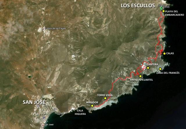 Ruta Los Escullos-San José-Los Escullos