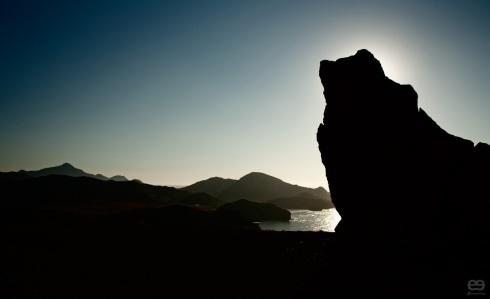 la roca que guarda la noche