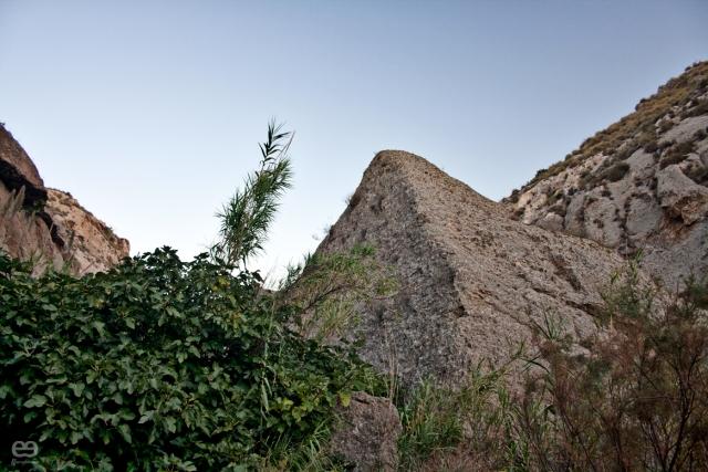 pirámide de roca