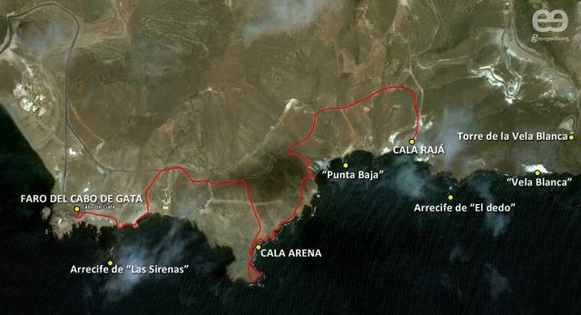 Ruta Cabo de Gata a Cala Rajá